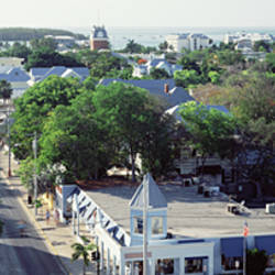 USA, Florida, Key West, The Conch Republic, Aerial view of Duval street