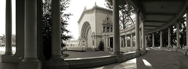 Pavilion in a park, Balboa Park, San Diego, California, USA