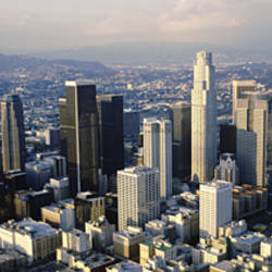 USA, California, Los Angeles, Aerial view of the city