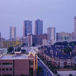 High angle view of a city, Fort Worth, Texas, USA