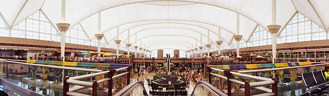 Concourse of an airport, Denver International Airport, Denver, Colorado, USA