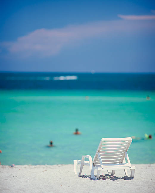 Single Beach Chair Miami Beach FL
