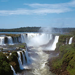 Waterfall in a forest, Iguacu Falls, Iguacu River, Iguacu National Park, Parana State, Brazil