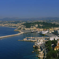 Aerial View Of A City, Nice, France