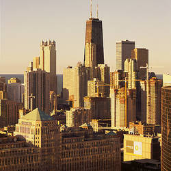 Buildings in a city, Chicago, Cook County, Illinois, USA