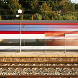Train in Motion Garraf Spain