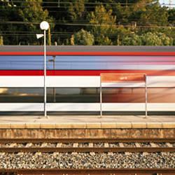 Train in Motion Garraf Spain