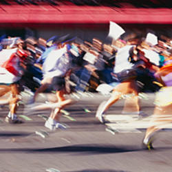 Group of people running, Marathon, New York City, New York State, USA
