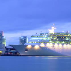 Cruise Ship Dusk Port of Miami Miami FL