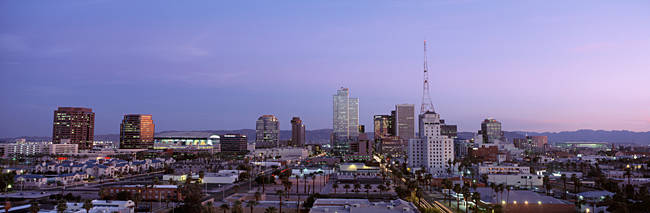 Aerial View Of The City At Dusk, Phoenix, Arizona, USA
