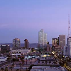 Aerial View Of The City At Dusk, Phoenix, Arizona, USA
