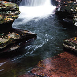 Close-up of a waterfall, Ricketts Glen State Park, Pennsylvania, USA