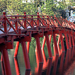 Bridge, Hoan Kiem Lake, Hanoi, Vietnam