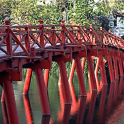 Bridge, Hoan Kiem Lake, Hanoi, Vietnam