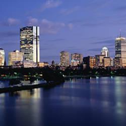 Buildings On The Waterfront At Dusk, Boston, Massachusetts, USA