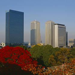 Buildings in a city, Osaka, Japan