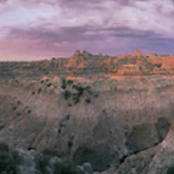 USA, South Dakota, Badlands National Park, dawn
