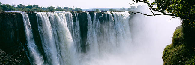 Waterfall in a forest, Victoria Falls, Zimbabwe, Africa