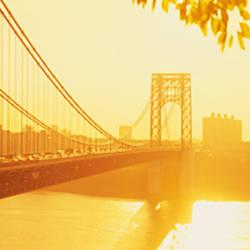 Bridge across the river, George Washington Bridge, New York City, New York State, USA