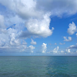Cloud over the ocean, Florida Keys, Monroe County, Florida, USA