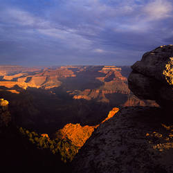 Rock formations on a landscape, South Rim, Grand Canyon National Park, Arizona, USA