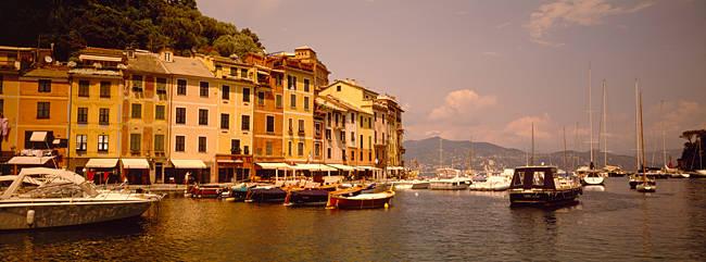 Boats in a canal, Portofino, Italy