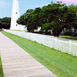 Low angle view of a lighthouse, Ocracoke Lighthouse, Ocracoke Island, North Carolina, USA