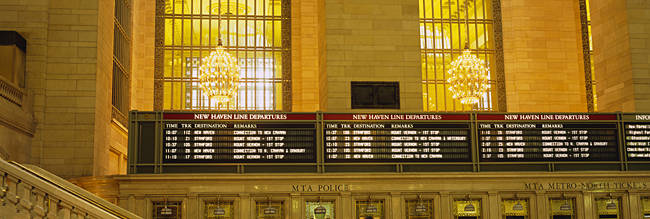 Arrival departure board in a station, Grand Central Station, Manhattan, New York City, New York State, USA