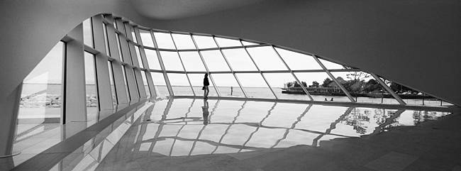 Interiors of a museum, Milwaukee Art Museum, Milwaukee, Wisconsin, USA