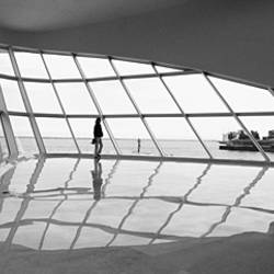 Interiors of a museum, Milwaukee Art Museum, Milwaukee, Wisconsin, USA