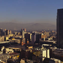 High angle view of a city, Santiago, Chile