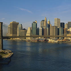Bridge Across A River, Brooklyn Bridge, NYC, New York City, New York State, USA