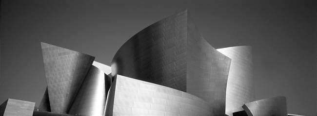 Low angle view of a building, Walt Disney Concert Hall, City of Los Angeles, California, USA