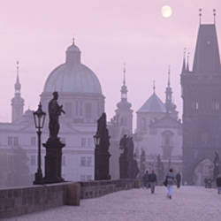 Charles Bridge And Spires Of Old Town, Prague, Czech Republic