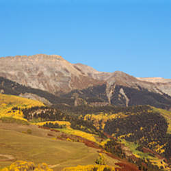 High angle view of a mountain range, Colorado, USA