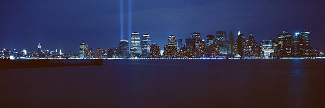 Lower Manhattan, Beams Of Light, NYC, New York City, New York State, USA