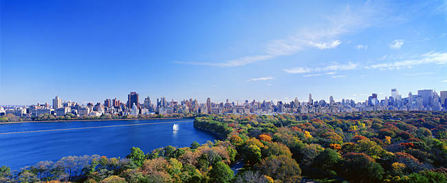 Buildings in a city, Central Park, Manhattan, New York City, New York State, USA