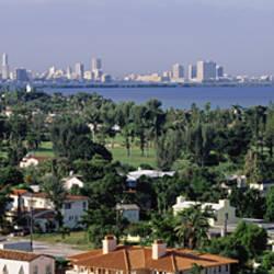 High Angle View Of The City, Miami, Florida, USA