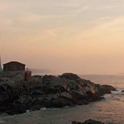 Lighthouse at coast, Portland Head Lighthouse, Cape Elizabeth, Maine, USA
