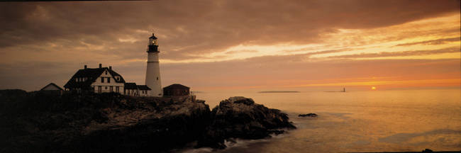 Portland Head Lighthouse, Cape Elizabeth, Maine, USA