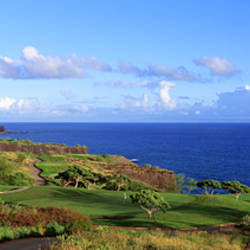 Golf Course, Manalee Bay, Lanai, Hawaii, USA