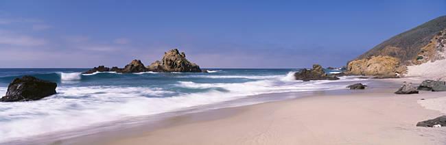 Surf on the beach, Pfeiffer Beach, Big Sur, California, USA