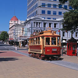Cable Car & Cityscape Christchurch New Zealand