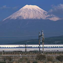 Bullet Train Mount Fuji Japan