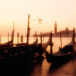 Gondolas San Giorgio Maggiore Venice Italy