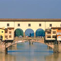 Arch bridge over a river, Arno River, Ponte Vecchio, Florence, Italy