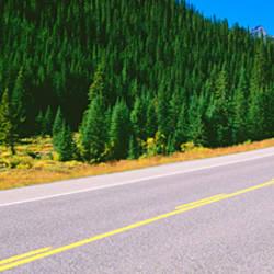 Highway passing through a landscape, Alberta Highway 40, Kananaskis Country, Alberta, Canada