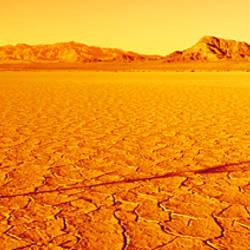 USA, California, Mojave Desert, armillary sphere