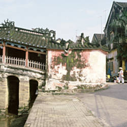 Houses at a riverside, Hoi An, Quang Nam, Vietnam
