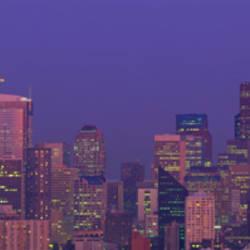 Twilight Skyline Seattle WA USA